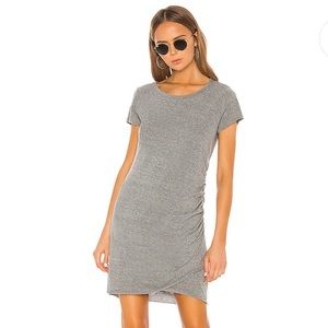 LA MADE T-SHIRT DRESS WITH RUCHED SIDE